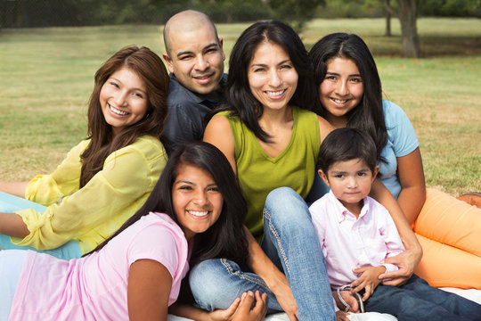 Large Hispanic Family