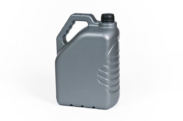 Silver plastic jerrycan