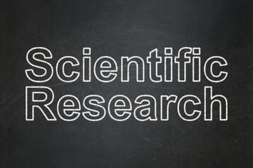 Science concept: Scientific Research on chalkboard background