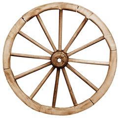 Big vintage rustic wagon wheel