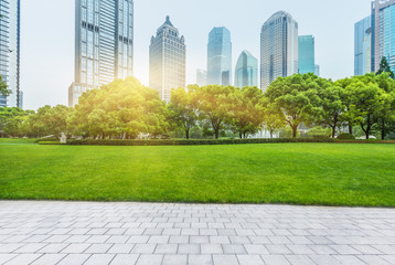 shanghai central park,china. - fototapety na wymiar