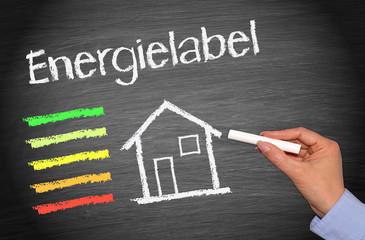 Haus mit Energielabel