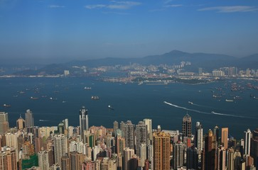 Centre of Hong Kong, view from Victoria Peak