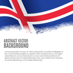 Vector background with Icelandic flag and copy space