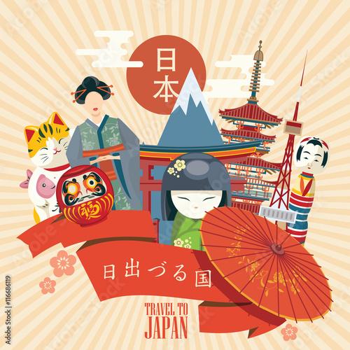 gorgeous japan travel poster travel to japan word japan in japanese sentence