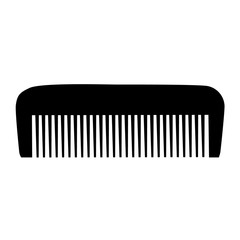 Comb , Barber comb, black plastic comb vector illustration