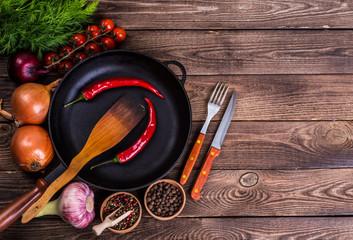 Raw marbled meat steak Ribeye on dark wooden background