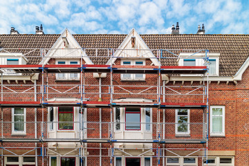 Renovation of Dutch apartment houses in Amsterdam