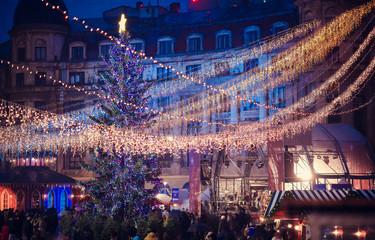 Bucharest Christmas Market, December 2015. Univeristy main city
