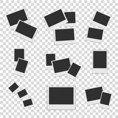Blank Photo set isolated on white