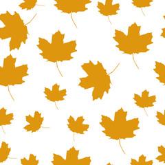 Autumn Set of Orange Maple Leaves