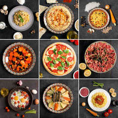 Food collage (top view)