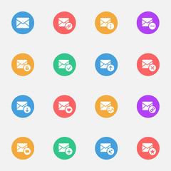 E-mail flat  icons