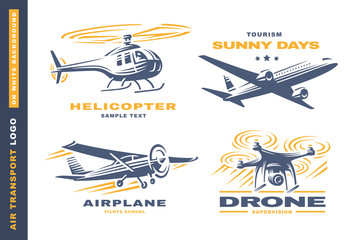 Air transport Logo illustration on white background