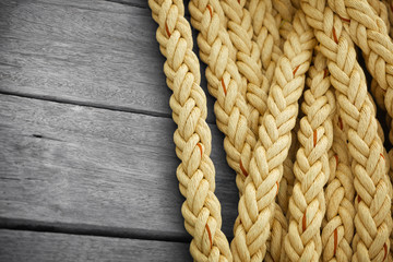Obraz Vintage nautical knots background with copy-space. Marine sea ro - fototapety do salonu