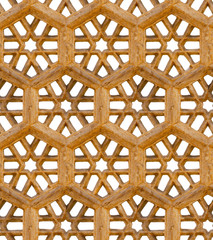 Seamless pattern. Ancient traditional ornament - brown sandstone
