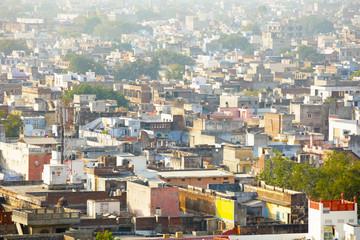 Autocollant pour porte Delhi View of the Jaipur skyline