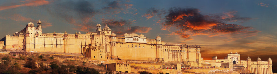 India landmark - Jaipur, Amber fort panorama