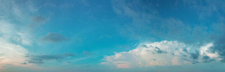 Panorama of the daytime sky with clouds Wall mural