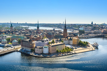 Wall Murals Stockholm view of the Old Town or Gamla Stan in Stockholm, Sweden