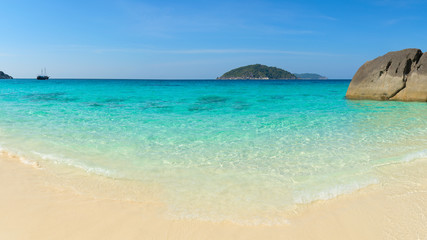 Pristine, Tropical, White Sand Beach in Southeast Asia