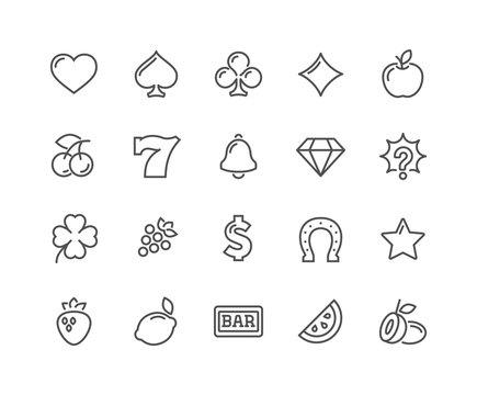 Line Slot Machine Icons