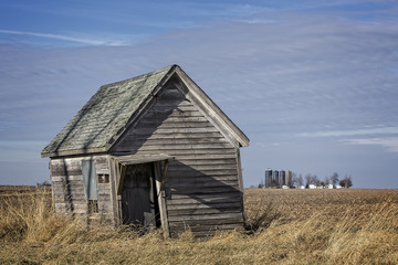 Old shed in rural Christian County IL.