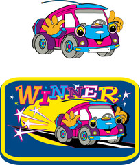 car, toy, illustration, amusing, funny