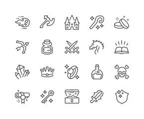 Line Fantasy Icons