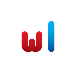 wl logo initial blue and red
