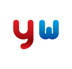yw logo initial blue and red