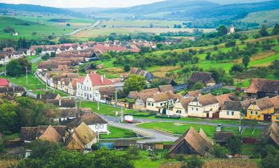 Traditional Saxon village in Transylvania, Romania