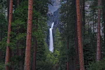 Long exposure image of yosemite falls, yosemite national park, california