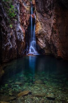 Waterfall in gorge, australia