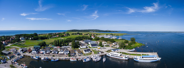 Vitte Hiddensee in Germany harbor island