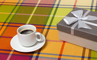 Coffee gift box on the table