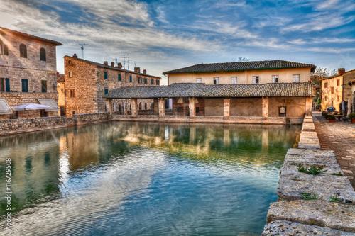 Bagno vignoni siena tuscany italy ancient thermal - Bagno vignoni siena ...