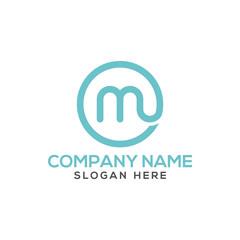 Letter M logo vector - typography