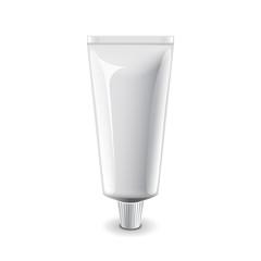 White medical cream tube isolated vector