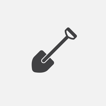 Shovel icon vector, solid logo illustration, pictogram isolated on white