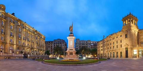 Oquendo square in San Sebastian
