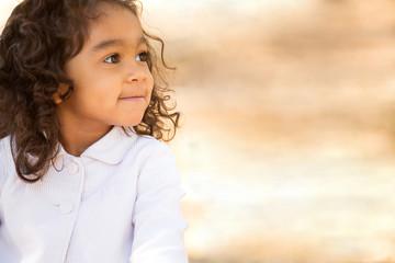 Hispanic little girl.