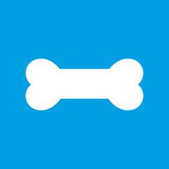 Dog bone icon on a blue background