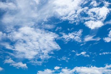 White cloud on blue sky bright and beautiful