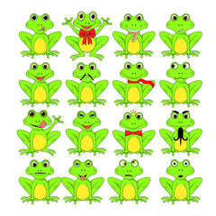 frogs set on white background in vector EPS 10