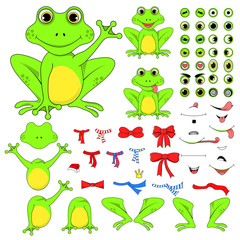 frogs set of body parts in vector EPS 10