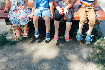 Kid sitting at the playground