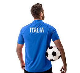 Athlete on Italian uniform