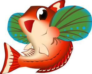 魚イラスト ホウボウ ベクター
