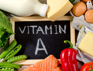 Products rich in vitamin A.